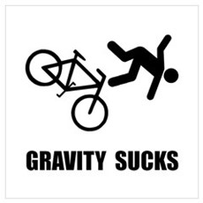 Gravity Sucks Bike Wall Art Framed Print